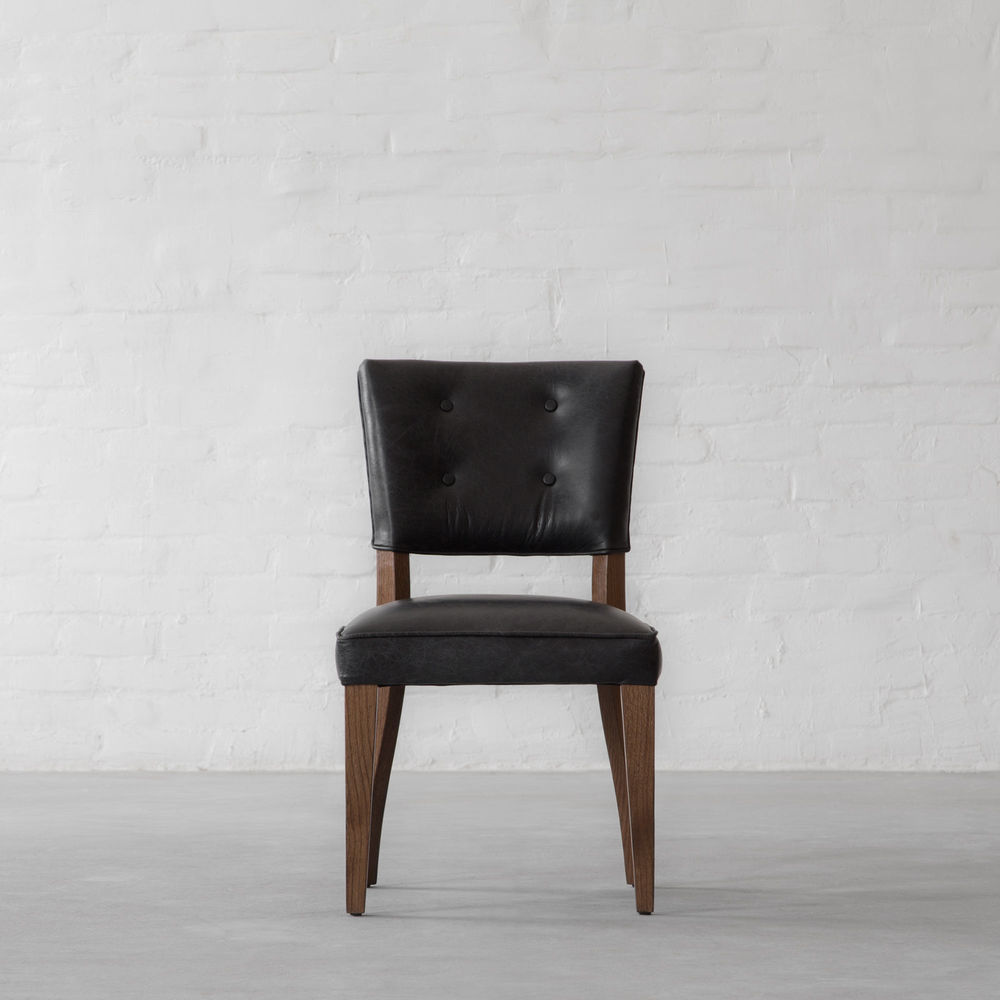 Prague Leather Dining Chair - Armless