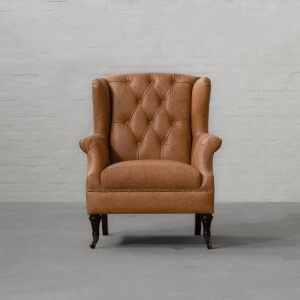 Wing Back Leather Armchair