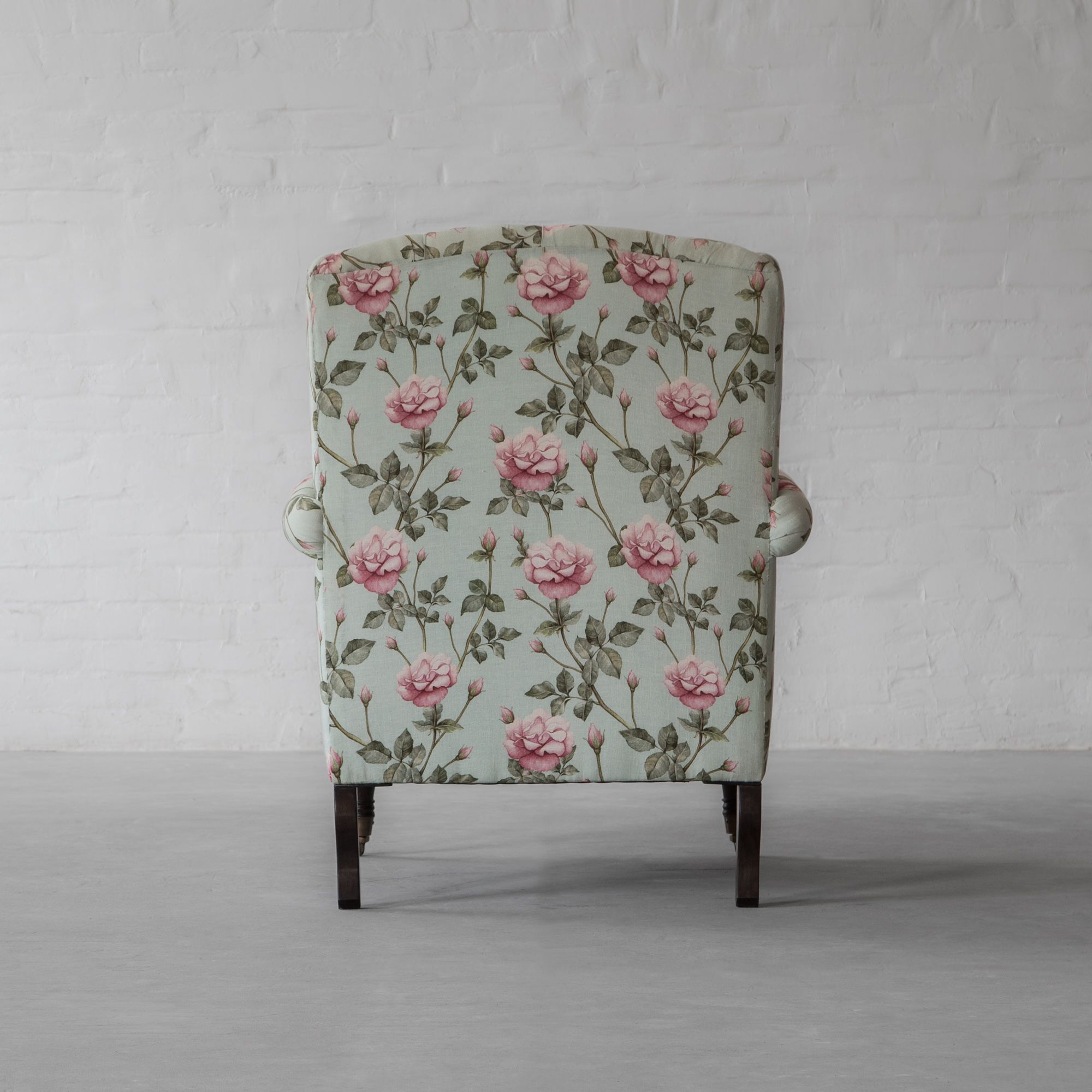 Wing Back Tufted Armchair