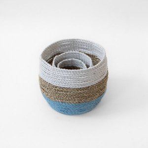 Beach Palm Woven Basket Pot